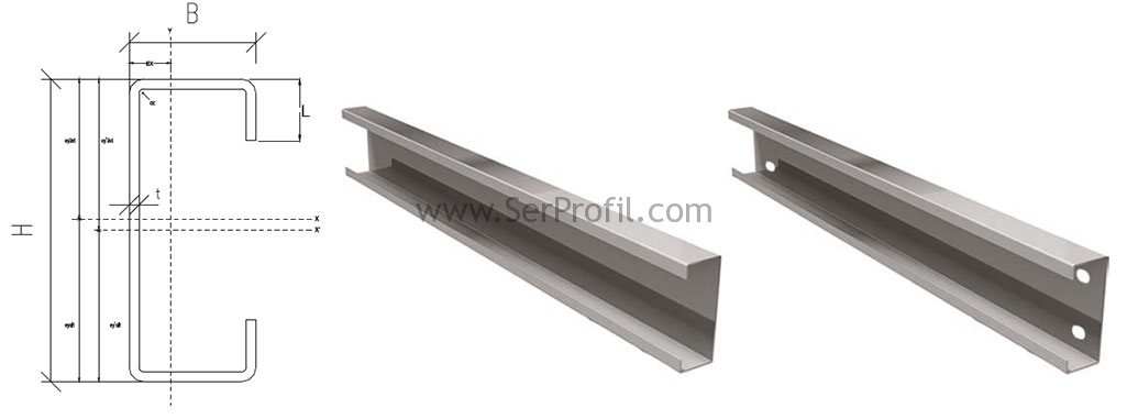 Yapısal Çelik C Profil